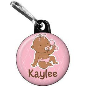 Baby Girl - African American Personalized Mini Zipper Pull (each)