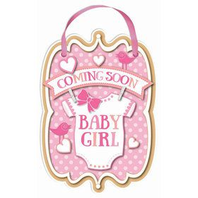 Baby Girl Coming Soon Sign