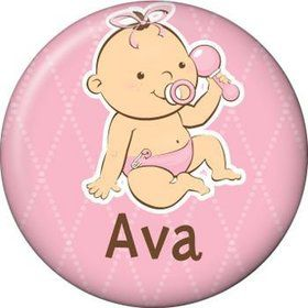 Baby Girl Personalized Mini Magnet (each)