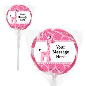 "Baby Girl Safari Personalized 2"" Lollipops (20 Pack)"