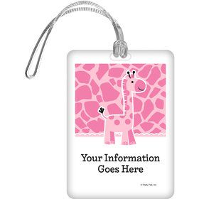 Baby Girl Safari Personalized Bag Tag (Each)