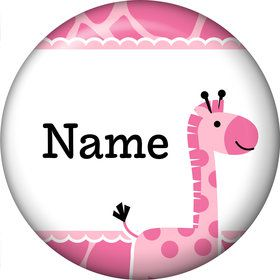 Baby Girl Safari Personalized Mini Magnet (Each)