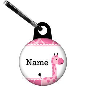 Baby Girl Safari Personalized Zipper Pull (Each)