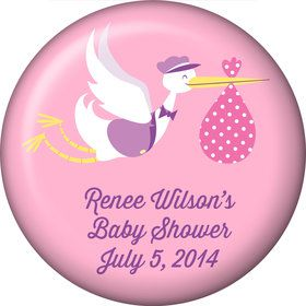Baby Girl Stork Personalized Magnet (Each)
