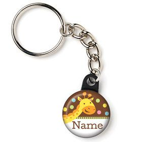 "Baby Jungle Personalized 1"" Mini Key Chain (Each)"