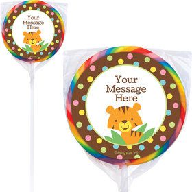 Baby Jungle Personalized Lollipops (12 Pack)