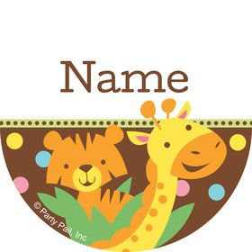 Baby Jungle Personalized Mini Stickers (Sheet of 20)