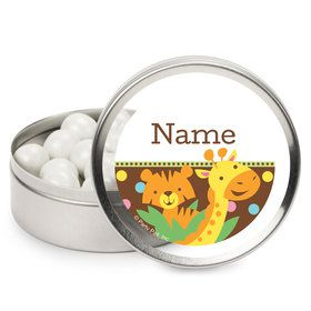 Baby Jungle Personalized Mint Tins (12 Pack)
