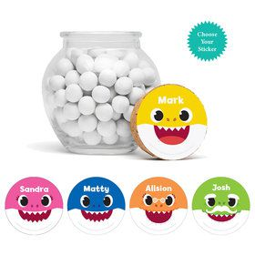 "Baby Shark Personalized 3"" Glass Sphere Jars"