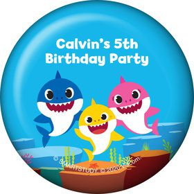 Baby Shark Personalized Button