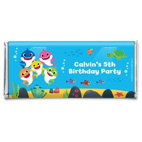 Baby Shark Personalized Candy Bar Wrapper