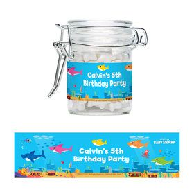 Baby Shark - Choose Your Shark Personalized Glass Apothecary Jars