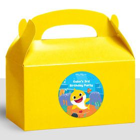 Baby Shark Personalized Treat Favor Boxes