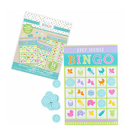 Baby Shower Bingo Game (Each) - Party Supplies Deal