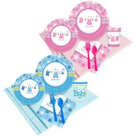 Baby Shower Boy or Girl - Shower with Love Party Pack (16)