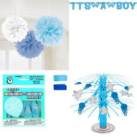 Baby Shower Boy Standard Decorating Kit