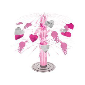 Baby Shower Cascade Pink Hearts Centerpiece (Each)