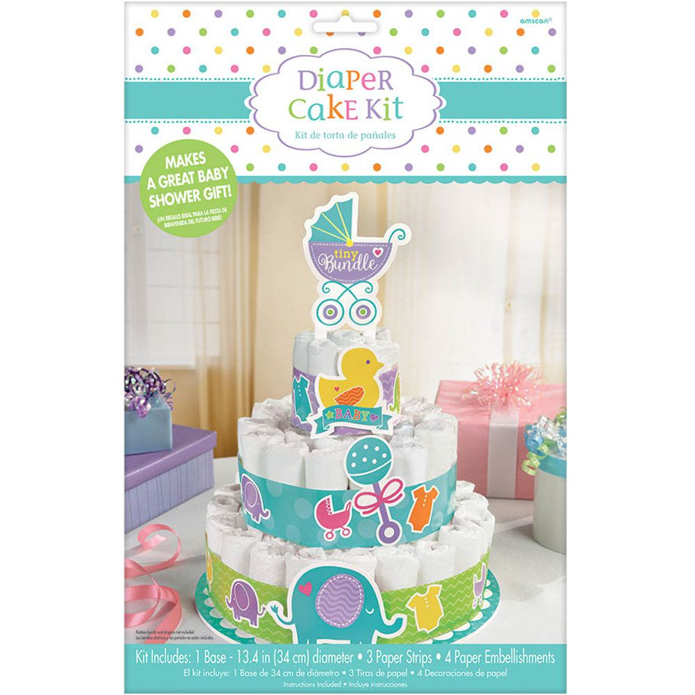 baby shower diaper cake kit centerpieces party supplies. Black Bedroom Furniture Sets. Home Design Ideas