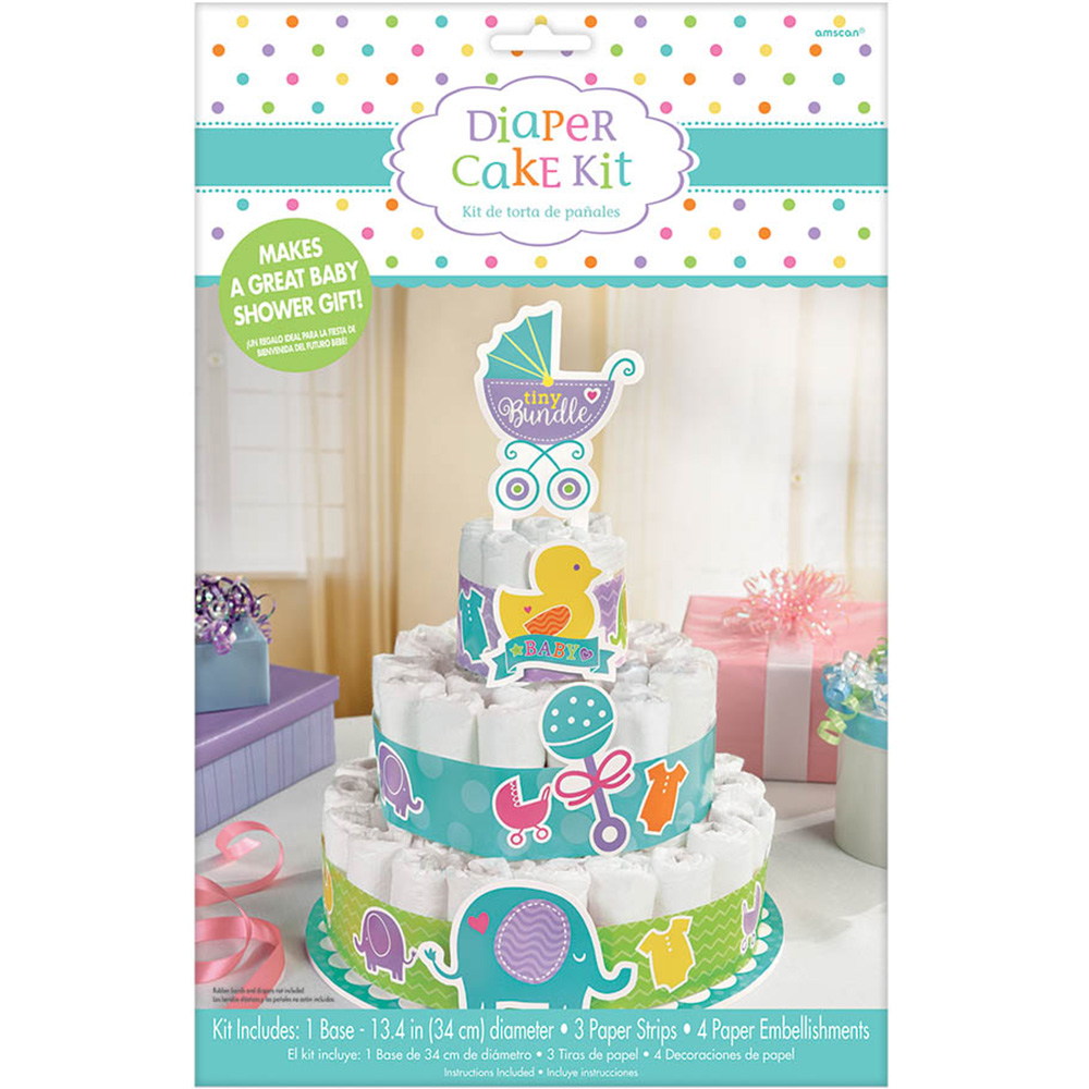 details about baby shower diaper cake kit party supplies