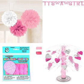 Baby Shower Girl Standard Decorating Kit