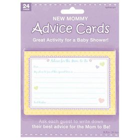 Baby Shower New Mommy Advice Cards (Each)