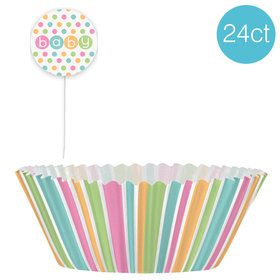 Baby Shower Pastel Cupcake Kit (24 Count)