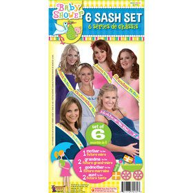 Baby Shower Sash Set (6 Pieces)