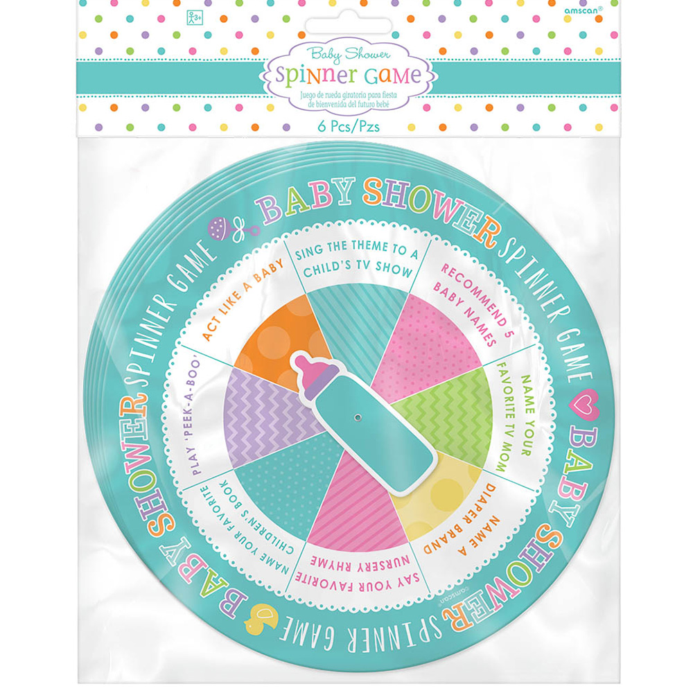 Baby Shower Spinner Game (6 Count) - Party Supplies
