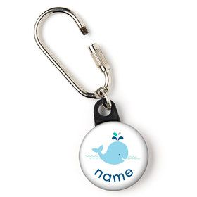 "Baby Whale Blue Personalized 1"" Carabiner (Each)"