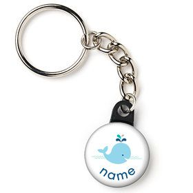 "Baby Whale Blue Personalized 1"" Mini Key Chain (Each)"