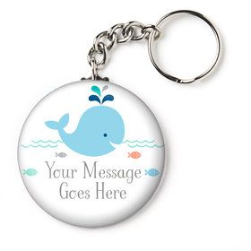 "Baby Whale Blue Personalized 2.25"" Key Chain (Each)"