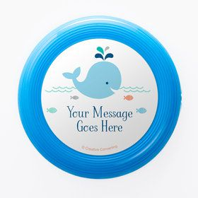 Baby Whale Blue Personalized Mini Discs (Set of 12)