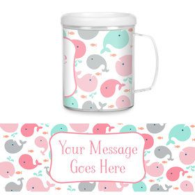 Baby Whale Pink Personalized Favor Mug (Each)