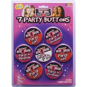 Bachelorette Party Buttons (7 Pack)
