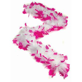 Bachelorette White Boa with Pink Tips (Each)