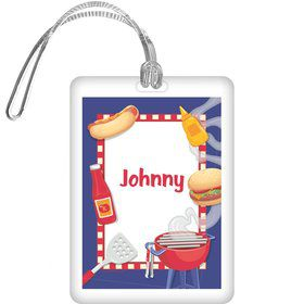 Backyard Bbq Personalized Bag Tag (each)