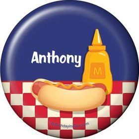 Backyard Bbq Personalized Button (each)