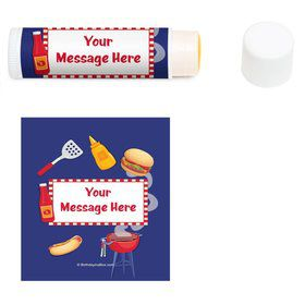Backyard BBQ Personalized Lip Balm (12 Pack)