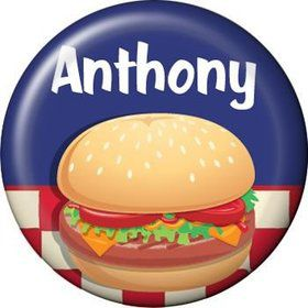 Backyard Bbq Personalized Mini Button (each)