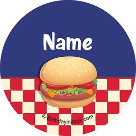 Backyard BBQ Personalized Mini Stickers (Sheet of 24)