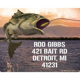 Bait 'n Hook Personalized Address Labels (15 Sheet)