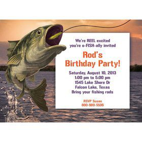 Bait 'n Hook Personalized Invitation (each)