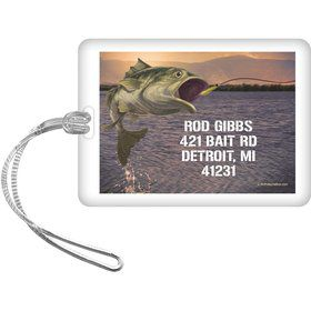 Bait 'n Hook Personalized Luggage Tag (each)