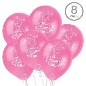 "Ballerina 12 "" Latex Balloons (8 Count)"