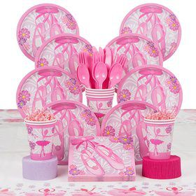 Ballerina Birthday Party Deluxe Tableware Kit Serves 8