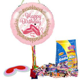 Ballerina Birthday Pull String Pinata Kit