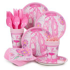 Ballerina Birthday Standard Tableware Kit Serves 8