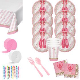Ballerina Deluxe Tableware Kit (Serves 8)