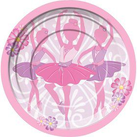 Ballerina Luncheon Plates (8 Pack)