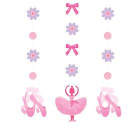 Ballerina Party Dangling Cutout (3-pack)